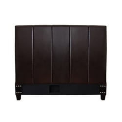 Cairo Dark Brown Leather Full-size Headboard - Thumbnail 1