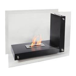 Gala Black Free-standing Bio-ethanol Fireplace - Thumbnail 1