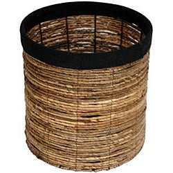 Banana Leaf 13-inch Woven Basket (China) - Thumbnail 1