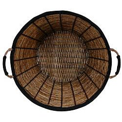Banana Leaf 14-inch Woven Laundry Basket (China)