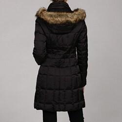 Laundry by Shelli Segal Women's Down Faux Fur Hood Jacket