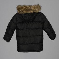Sean John Boy's Black Quilted Puffy Coat