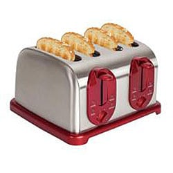Kalorik Red 4-slice Toaster - Thumbnail 1