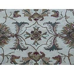 Indo Hand-tufted Beige Wool Rug (8' Round)