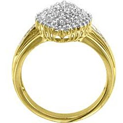 Unending Love 14k Gold over Silver Vermeil 1/2ct TDW Diamond Fashion Ring (K-L, I1-I2) - Thumbnail 1