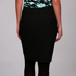 Thumbnail 2, MICHAEL Michael Kors Women's Drape Front Pencil Skirt. Changes active main hero.
