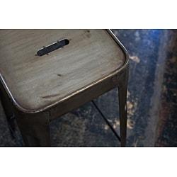 Set of 2 Steel Stacking Barstools (India) - Thumbnail 1