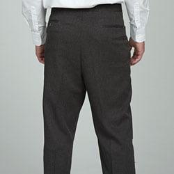 Sansabelt Men's Charcoal Gabardine Twill Trousers - Thumbnail 1