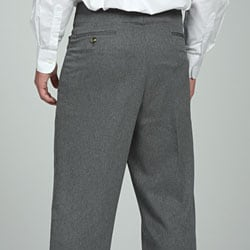 Sansabelt men's Grey Gabardine Twill Trousers - Thumbnail 1