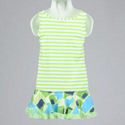 Hype Girl's Green Drop Waist Dress