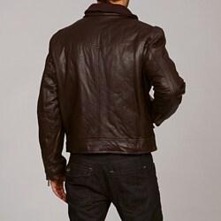 MICHAEL Michael Kors Men's Leather Jacket - Thumbnail 1