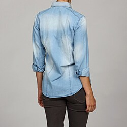 Ninety Women's Washed Denim Shirt - Thumbnail 1