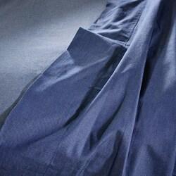 Dark Heathered Blue Cotton Sheet Set  King/ Cal King-size Sheet Set - Thumbnail 1