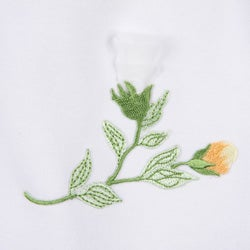 Mia Belle Girl's Assymetrical Sleeve Flower Print Tunic/ Short Ruffle Dress
