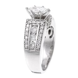 14k White Gold 1 1/2ct TDW Diamond Engagement Ring (H-I, I1-I2) - Thumbnail 1