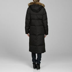 DKNY Women's Long Quilted Zip-front Down Coat - Thumbnail 1