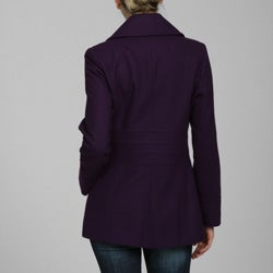 Via Spiga Women's Wool Double-breasted Peacoat