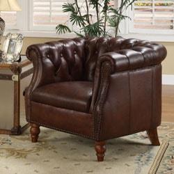 Testbrand Victoria Top Grain Leather Club Chair