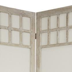 Window Pane Fabric 6-panel 5.5-foot Room Divider (China)