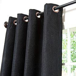 Basketweave Indoor/ Outdoor 95-inch Patio Curtains - Thumbnail 1