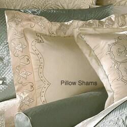 Luxe Versailles 'Loire' Iridescent Silk California King-size Comforter Set - Thumbnail 1