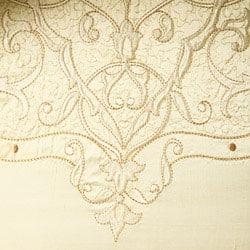 Luxe Versailles 'Loire' Silk Decorative Bolster Pillow - Thumbnail 1