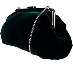 Dolce & Gabbana Emerald Green Velvet Clutch - Thumbnail 1