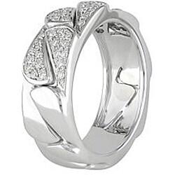 Miadora 18k White Gold 1/3ct TDW Diamond Ring (G-H, SI2)
