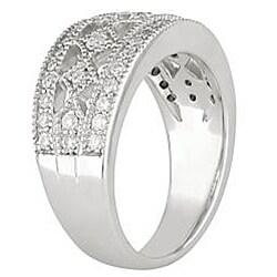 18k White Gold 5/8ct TDW Diamond Fashion Ring - Thumbnail 1