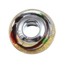 Sterling Essentials Sterling Silver Carnival Murano Glass Bead - Thumbnail 1