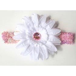 Sequin Rhinestone Flower Headband - Thumbnail 1