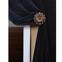 Exclusive Fabrics Signature Royal Blue Velvet 108-inch Curtain Panel - Thumbnail 1
