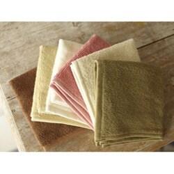 Set of 4 Organic Cotton Spa Face Towels (India) - Thumbnail 1
