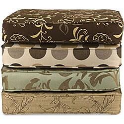 Saranac Teak Loveseat Cushion Set Made with Sunbrella Fabric - Thumbnail 1
