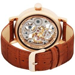 Akribos XXIV Men's Rosetone Stainless Steel Strap Watch