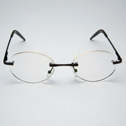 Rimless Oval Computer Glasses - Thumbnail 1