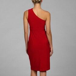 Marina Women's One-shoulder ITY Dress - Thumbnail 1