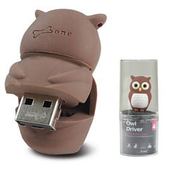 Bone Collection Owl 4GB USB Flash Drive - Thumbnail 1