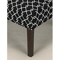 Chippendale Occasional Ivory/ Black Chair - Thumbnail 1