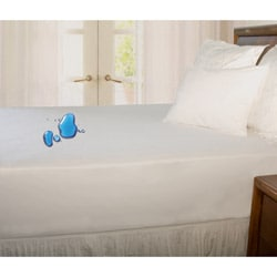 Terry Waterproof Twin/ Twin XL/ Full-size Mattress Protector - Thumbnail 1