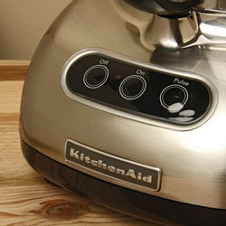 KitchenAid RKFP750NK Nickel 12-Cup Ultra Wide Mouth Food Processor (Refurbished) - Thumbnail 1