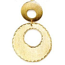 Adee Waiss 18k Yellow Gold Overlay Double Circle Earrings - Thumbnail 1
