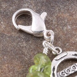 Fashion Forward Sterling Silver Good Luck Peridot Charm - Thumbnail 1