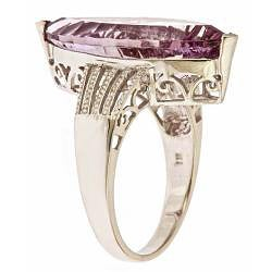D'Yach Sterling Silver Orchid Amethyst Ring