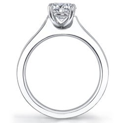 14k White Gold 3/4ct TDW Diamond Engagement Ring (H-I, SI1-SI2) - Thumbnail 1