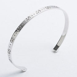5ed1cce6024d Shop Gucci 18k White Gold Icon Cuff Bracelet - Free Shipping Today ...