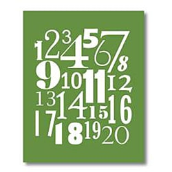 Trendography Prints  'Number Collage' Graphic Art Print