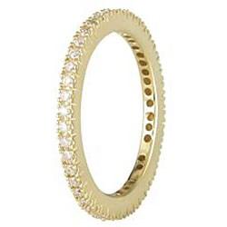 Miadora 18k Yellow Gold 1/3ct TDW Diamond Eternity Ring (G-H, SI1-SI2) - Thumbnail 1