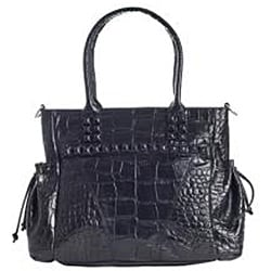 Michael Rome Croco-embossed Leather Tote - Thumbnail 1