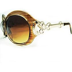 Women's 2905 Brown Stripe Oversized Sunglasses